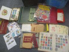 Postage stamps from around the world in various albums and loose, along with an 1846 envelope with
