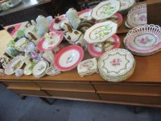 Mixed 20th century ornaments and china to include a Royal Worcester creamer and Staffordshire dogs