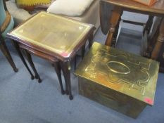 A mixed lot to include a TCM Dodson signed limited edition print, large gilt mirror, brass coal
