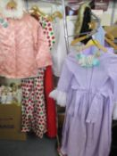 A quantity of vintage children's dressing up clothes A/F together with a ballet tutu, an Edwardian