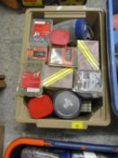 A large quantity of fixings and fasteners to include screws, felt nails etc (four crates)