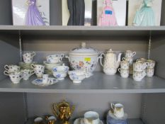 Mixed china to include a Wedgwood Devon Rose pattern ice pail and cover, a Spode Fleur de lys coffee