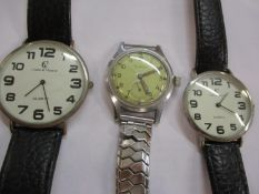 A Cortebert military watch (strap A/F) together with his and hers Crane & Viceroy wrist watches,