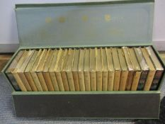 Books - A twenty five volume set of Sir Walter Scott's novels by Thomas Nelson & Sons, presented