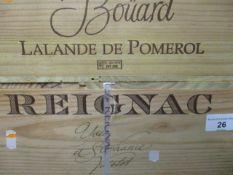 Twelve cased bottles of Reignac 2008 Grand Vin De Bordeaux Location 11.5