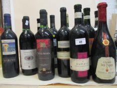 Fifteen mixed bottles to include Merlot, Rioja etc