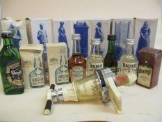 Fifteen miniature bottles of spirit to include Hennessy Cognac, Teachers, Glenfiddich A/F