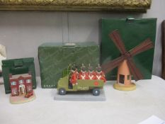 Three Camberwick Green models, Dr Mopp's House CTM07, The Army Truck CG94 and Colley's Mill CGB.01