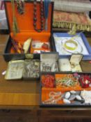 Costume jewellery to include a red coral necklace together with a meerschaum pipe, a boxed Blue Wing