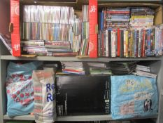 A large selection of DVD's, CD's and PlayStation games