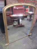 A late 19th/early 20th century gilt wood overmantel mirror 133cm h x 123cm w