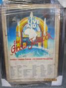 1985 Live Aid poster, framed and glazed