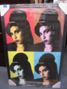 Limited edition Amy Winehouse print, framed and glazed
