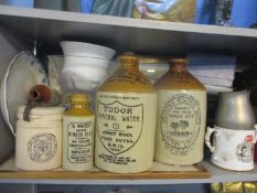 A mixed lot to include a map of Berkshire by Thomas Bowen, a boxed throw, ceramics, a frosted