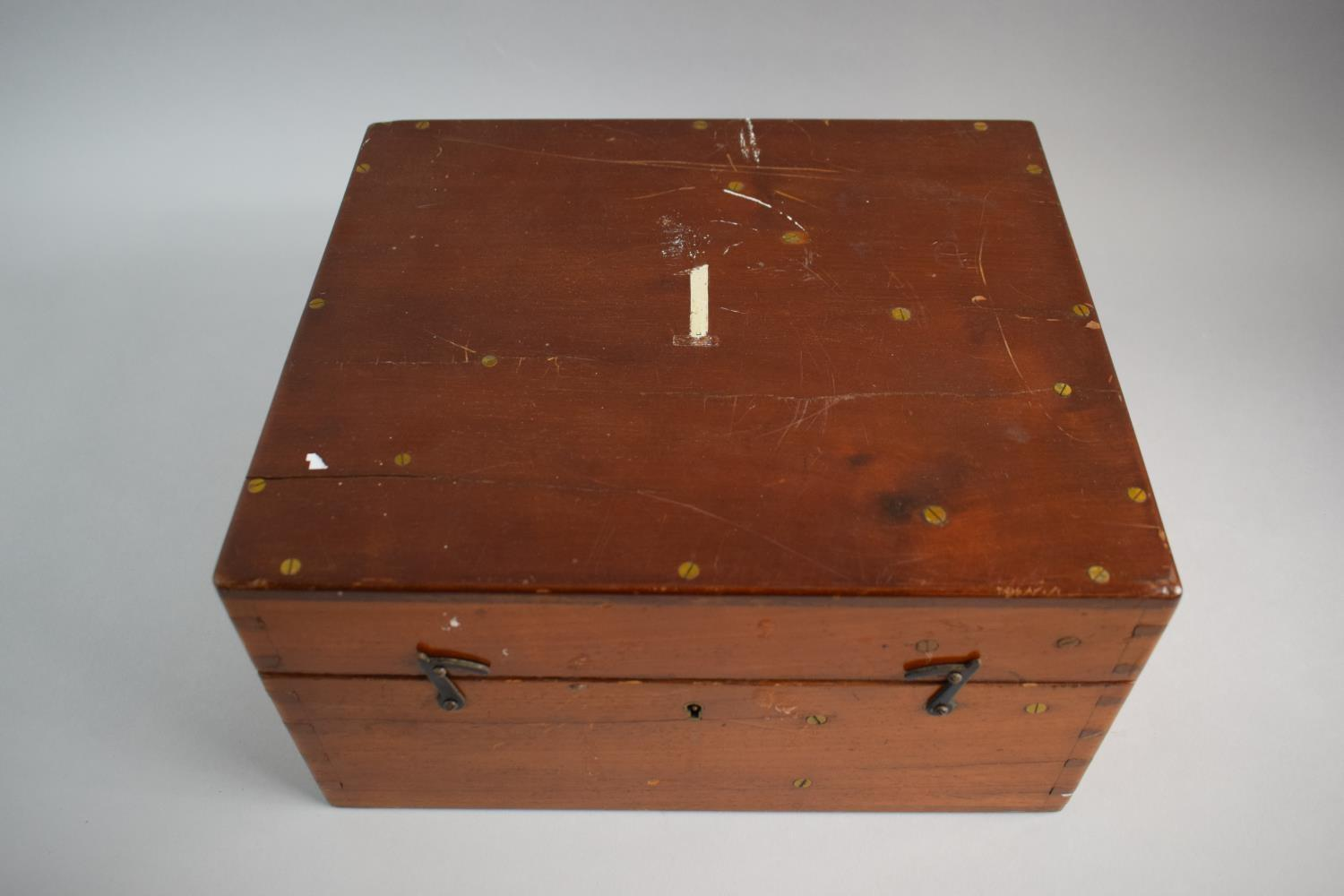 Lot 23 - A Mahogany Cased Brass Theodolite by Troughton & Simms Having Telescope Compass, Magnifiers,