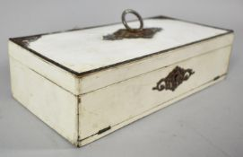 A French Fitted Ladies Jewellery Box with Inner Hinged Lid Having Inner Mirror and Pull Down