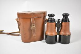 A Pair of Edwardian Cased Leather Binoculars