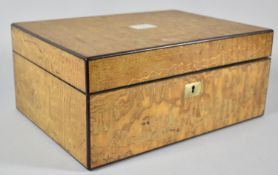 A 19th Century Ladies Work Box by Parkins & Gotto, Having Silk Lined Interior but Missing Inner