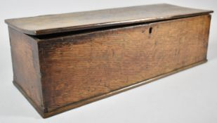 An Early 19th Century Oak Rectangular Box Containing Various Knitting Needles, Sewing Accessories