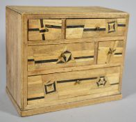 A Victorian Miniature Spice Chest with Five Inlaid Drawers, 14.5cm wide and the Base Inscribed