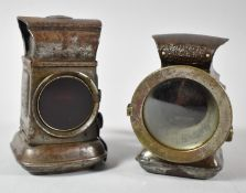 A Pair of Vintage Lucas Bicycle Front and Rear Oil Lamps