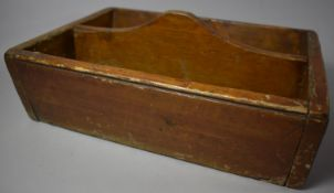 A Late 19th Century Two Division Scumble Glazed Knife Box, 36.5cm wide