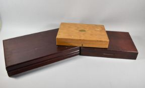 Three 20th Century Wooden Canteen Boxes, The Largest 47cm Wide (All empty)