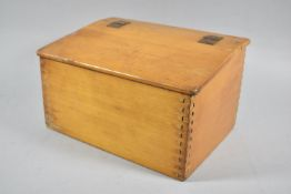 A Mid 20th Century Wooden Box with Hinged Lid, 29cm wide