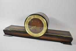 A 1960's Schatz Mantle Clock with Westminster Chime Movement, 61cm wide