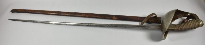A 1912 Pattern Officers Sword by Henry Wilkinson, Pall Mall, No.6022 in Leather Scabbard