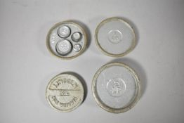 A Set of Lincoln Box Weights C.1940, 9cm Diameter