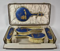 An Early 20th Century Chinoiserie Dressing Table Set in Original Box