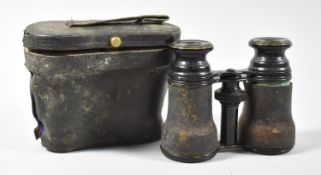 A Pair of Late 19th Century Cased Opera Glasses, in Need of Attention