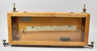 A Negretti and Zambra Spirit Level Gauge in Wooden Case, 56cm Wide