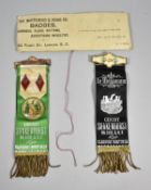 Two Ancient Order of Foresters In Memoriam Badges by the Whitehead and Hoag, Court Shakenhurst,