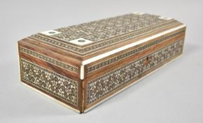 An Indian Visakhapatnam Inlaid Box, 30.5cm wide
