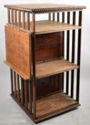 An Edwardian Oak Revolving Bookcase with Hinged Lectern, 93cm high