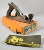 A Stanley Bailey No.3 Plane with Original Cardboard Box and Hints Booklet