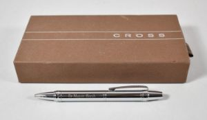 A Boxed Cross Ballpoint Pen, Inscribed Dr. Mayer Hersh