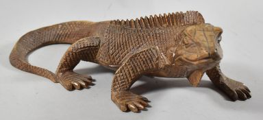 A Nicely Carved Study of Iguana Lizard, 32cm Long