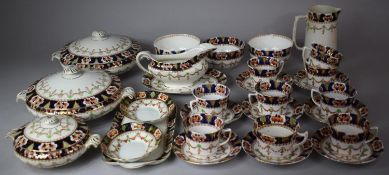 An Edwardian Pattern Part Dinner and Tea Service to Comprise Cups, Saucers, Lidded Tureens Etc