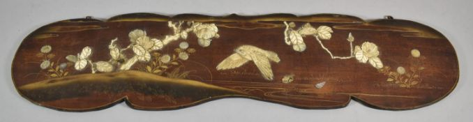 A Japanese Meiji Period Shibayama Wall Hanging Panel Decorated with Gilt, Mother of Pearl and