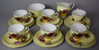 An Imperial Floral Pattern Tea Set to comprise Six Saucers, Six Side Plates, Six Cups, Milk, Sugar