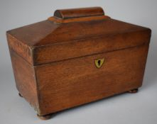 A Late 19th Century Mahogany Two Division Tea Caddy Converted to Work Box but with Two Lids Still