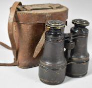 A Pair of Late 19th/Early 20th Century Binoculars in Leather Case