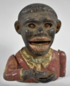 An Early 20th Century Cast Metal American Novelty Money Bank, 14cm high