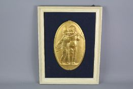 Four 19th Century French Gilt Brass Plaques