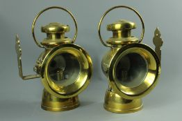 Antique Lucas Brass Carriage Lamps No. 726