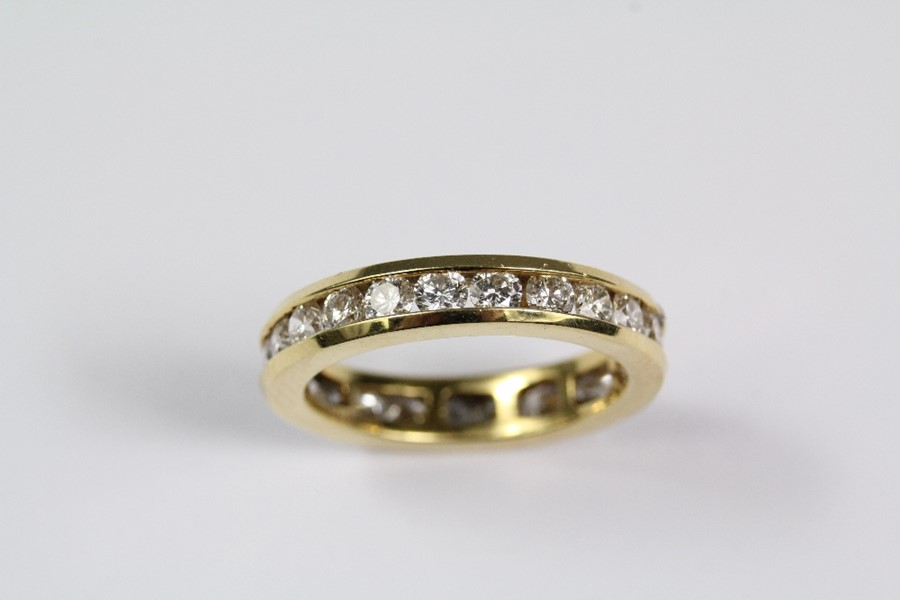 Lot 244 - An 18ct Yellow Gold Full Eternity Ring