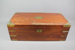 A Mahogany Campaign Writing Box